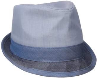b37c731cb048f4 Original Penguin Men's Color-Blocked Chambray Porkpie Hat, ...
