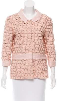 Alberta Ferretti Grosgrain Woven Jacket