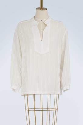 Vanessa Seward Florentine silk and cotton blouse