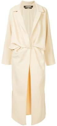 Jacquemus wrap front long coat