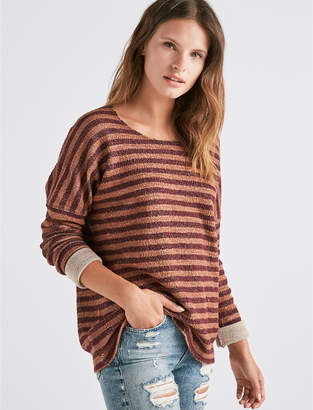 Lucky Brand TERRY STRIPE PULLOVER