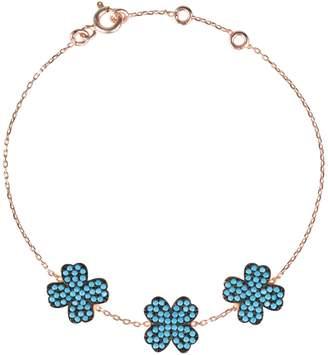 Rosegold Latelita London - Triple Lucky Clover Turquoise Bracelet