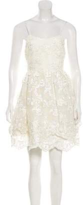 Alice + Olivia Mesh Mini Dress
