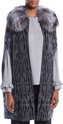 Kobi Halperin Colene Sweater w/ Detachable Fur Collar