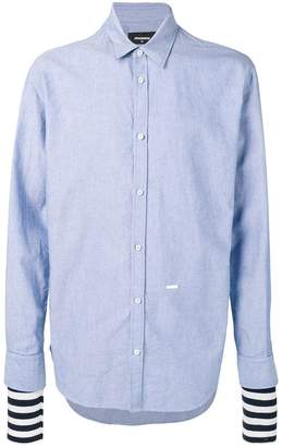DSQUARED2 layered sleeve shirt
