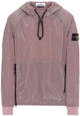 Stone Island Pullover Jacket With Zip Pockets And Toggle