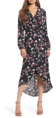 Fraiche by J Wrap High/Low Dress