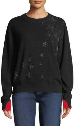Zadig & Voltaire Gaby Cashmere Embellished Star Pullover Sweater