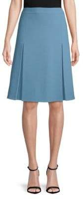 Akris Classic Wool A-Line Skirt