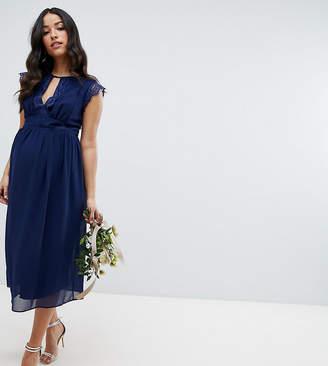 TFNC Maternity Maternity Lace Detail Midi Bridesmaid Dress