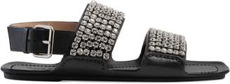 Gucci Women's leather sandal with crystals