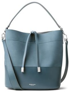 Michael Kors Collection Miranda Medium Leather Bucket Bag $790 thestylecure.com