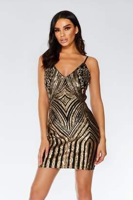 e4fe12dfacd9 Quiz Blush and Silver Sequin Bodycon Dress