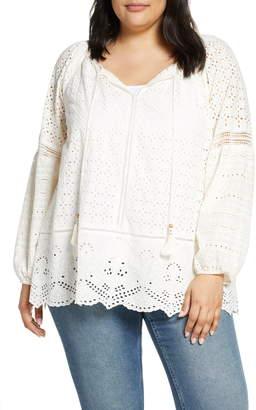 White Eyelet Top Plus Size - ShopStyle