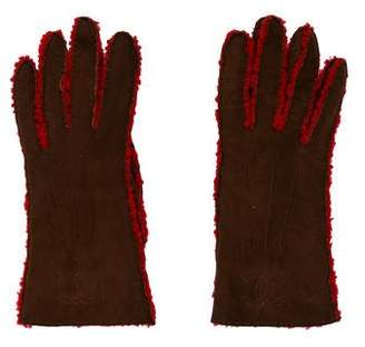 Chanel Embroidered Shearling Gloves