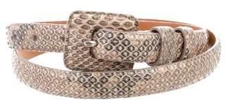 Ralph Lauren Python Buckle Belt