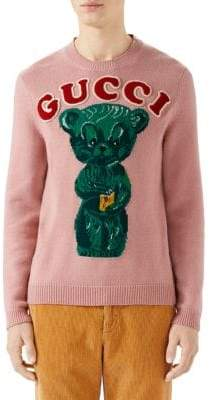 Gucci Intarsia Knit Teddy Bear Sweater
