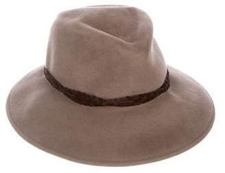 Eric Javits Felt Suede-Trimmed Hat