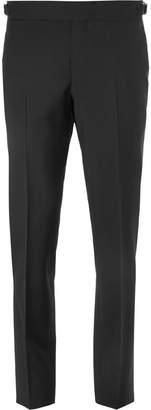 Ermenegildo Zegna Black Slim-Fit Wool and Mohair-Blend Trousers