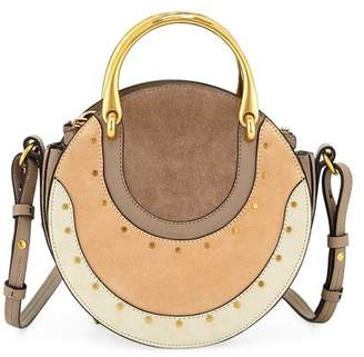 Chloé Pixie Small Colorblock Round Shoulder Bag