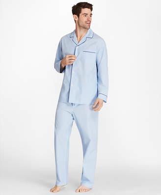 Brooks Brothers Sidewheeler Gingham Pajamas