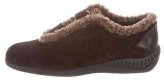 Stuart Weitzman Shearling-Trimmed Ankle Booties