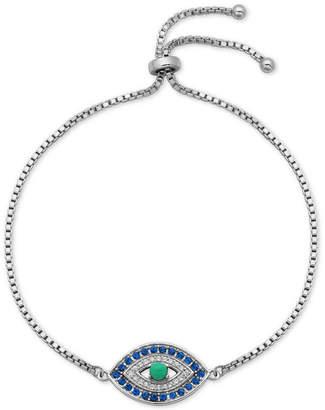 Giani Bernini Cubic Zirconia Evil Eye Bolo Bracelet in Sterling Silver