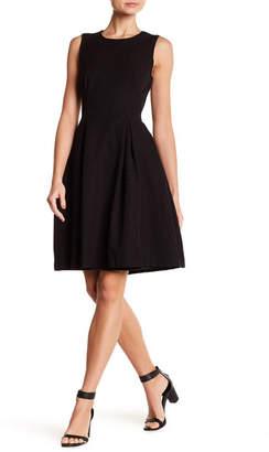 Max Studio Sleeveless Jacquard Fit & Flare Dress