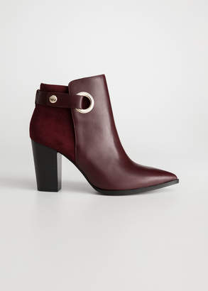 And other stories Suede Leather Ankle Boots