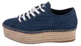Miu Miu Platform Espadrille Sneakers