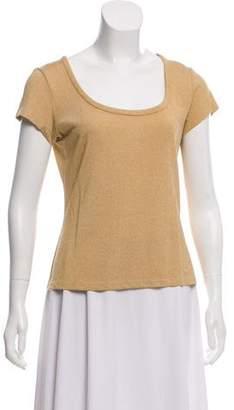 St. John Sport Metallic Short Sleeve Top