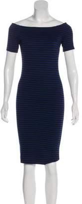 Torn By Ronny Kobo Striped Knee-Length Dress