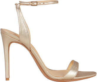 Alexandre Birman Willow Gold Leather Sandals