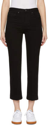 Rag & Bone Black Ankle Straight Jeans