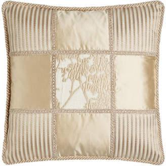 "Dian Austin Couture Home Fauna Patch Pillow, 20""Sq."