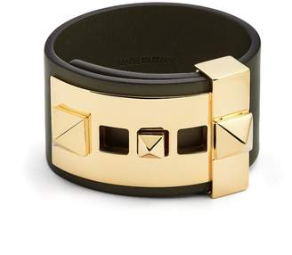 Valentino Rockstud wide leather band bracelet