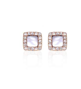 Mother of Pearl Ri Noor - Square & Diamond Earrings