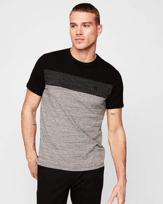Express Color Block Small Lion Stretch Tee