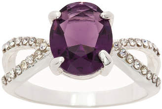 SPARKLE ALLURE Sparkle Allure Ring Box Test Womens 3/4 CT. T.W. Lab Created Purple Pure Silver Over Brass Cocktail Ring