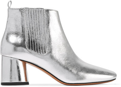 Marc Jacobs Rocket Metallic Leather Chelsea Boots - Silver