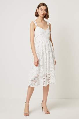 French Connenction Alicia Lace Strappy Midi Dress
