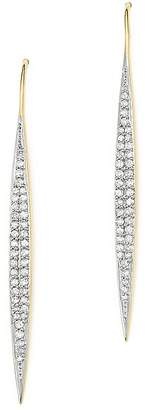 Adina 14K Yellow Gold Marquise Drop Pavé Diamond Earrings