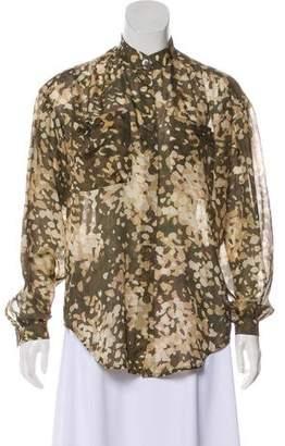 Stella McCartney Long Sleeve Button-Up Blouse