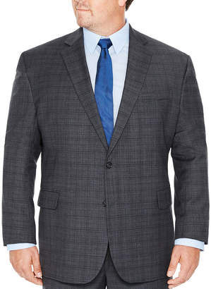 STAFFORD Stafford Plaid Classic Fit Suit Jacket-Big and Tall