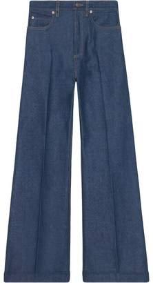 Gucci Washed denim flare pants