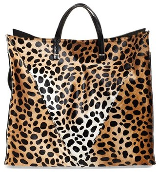 Clare V. Genuine Calf Hair Cheetah Print Tote - Brown $525 thestylecure.com