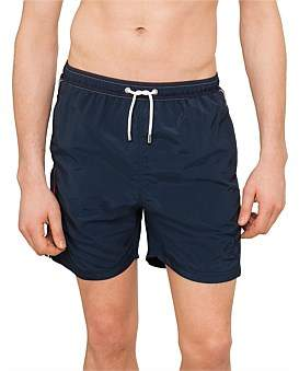 Paul & Shark Nautical Stripe Solid Boxer Swim Shorts