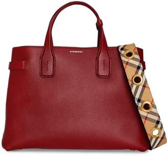 Burberry The Medium Banner in Leather with Grommeted Strap