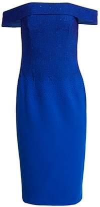 Ahluwalia Off-The-Shoulder Degrade Beaded Dress