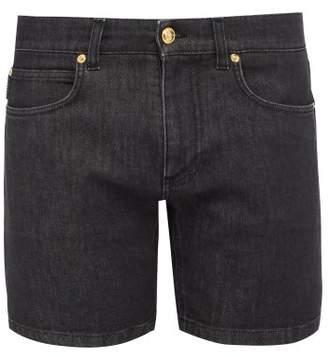 Versace Stretch Denim Shorts - Mens - Black